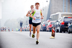 Wroclaw Marathon runners Royalty Free Stock Photos