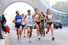 Wroclaw Marathon runners stock photos