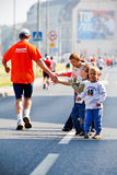 Wroclaw Marathon runners Royalty Free Stock Photo