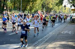 Wroclaw Marathon - runners Stock Images