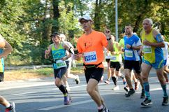 Wroclaw Marathon - runners Royalty Free Stock Photography