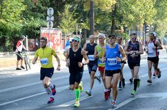 Wroclaw Marathon - runners Royalty Free Stock Photos