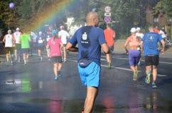 Wroclaw Marathon - runners Royalty Free Stock Image