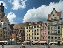 Wroclaw - market place. Image was taken on July 2013 Royalty Free Stock Photo