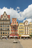 Wroclaw - market place. Image was taken on July 2013 Royalty Free Stock Photos