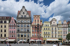 Wroclaw - market place. Image was taken on June 2013 in Wroclaw Stock Photos