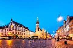 Wroclaw Market Square, Poland Royalty Free Stock Image
