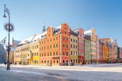 wroclaw Marktvierkant stock foto