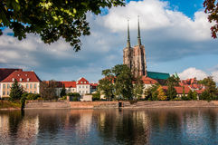 Wroclaw the meeting place Royalty Free Stock Photography
