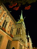 Wroclaw at night. City Hall on the old town square in Wroclaw. Royalty Free Stock Photos