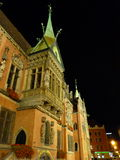 Wroclaw at night. City Hall on the old town square in Wroclaw. Stock Image