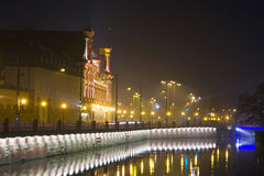 Wroclaw by night Royalty Free Stock Photo