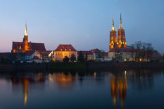 Wroclaw at night. Stock Image