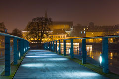 Wroclaw in the night. Royalty Free Stock Photo