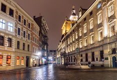 Wroclaw at night, Poland Stock Photo
