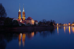 Wroclaw at night. Royalty Free Stock Photo