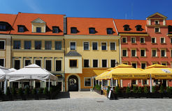 Wroclaw - north side of marketplace Stock Images