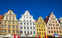 Wroclaw - o centro histórico do Polônia Fotografia de Stock
