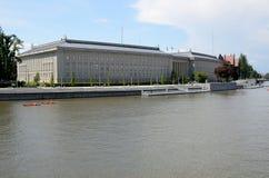 Wroclaw och Odra flod Fotografering för Bildbyråer