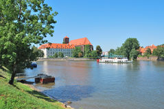 Wroclaw.  Oder Riverside Stock Photography