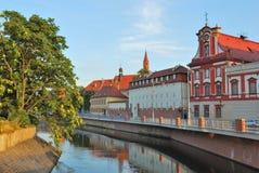 Wroclaw. Odra river embankment Stock Photos