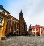 Wroclaw old city panorama Stock Photography