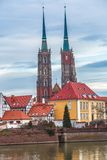 Wroclaw old city panorama Royalty Free Stock Image