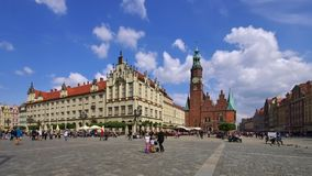 Wroclaw, the old gothic town hall royalty free stock photos