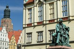 Wroclaw old main squere Stock Photography