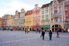 Wroclaw old square Royalty Free Stock Photos
