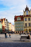 Wroclaw old square Royalty Free Stock Photo