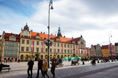Wroclaw old square Royalty Free Stock Image