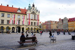 Wroclaw old square Stock Photography