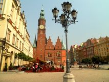 Wroclaw Old Town. Beautiful view of historical buildings in Wroclaw, Poland stock photo