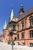 Wroclaw Old Town with Gothic Town Hall. Royalty Free Stock Photography