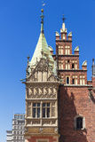 Wroclaw Old Town with Gothic Town Hall. Royalty Free Stock Image