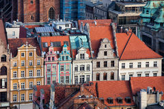 Wroclaw Old Town Houses Stock Image