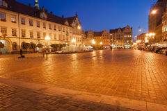 Wroclaw Old Town Market Square at Night Stock Photo