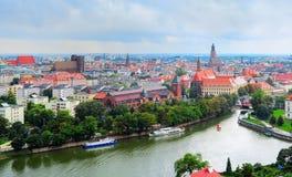 Wroclaw Old Town skyline, Poland Royalty Free Stock Photos