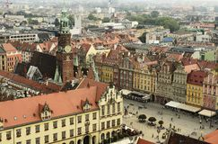 Wroclaw oude stad in Polen royalty-vrije stock fotografie