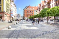 Wroclaw, paisaje urbano fotos de archivo