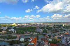 Wroclaw - panorama met schoorsteen Royalty-vrije Stock Foto's