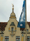 Wroclaw, POL:EURO 2012 Follow the Trophy Tour Flag Royalty Free Stock Images