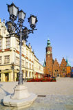 Wroclaw, poland. Historic center with old city hall in wroclaw, poland Stock Photos