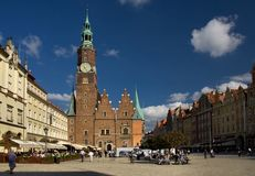 Wroclaw in Poland Royalty Free Stock Photos