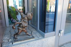 WROCLAW, POLAND, AUGUST 2018: Wroclaw famous dwarf `Leprokonus` gnome. Breslau. Poland stock photo