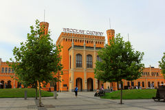 WROCLAW, POLAND, AUGUST 30, 2014: main station in the summer morning Royalty Free Stock Photography