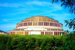 View of Centennial Hall or Hala Stulecia in Wroclaw Royalty Free Stock Photography