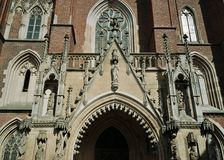 Wroclaw poland cathedral church Royalty Free Stock Photo