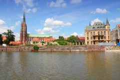 Wroclaw. Poland - city architecture. Ostrow Tumski - oldest part of the city Royalty Free Stock Images